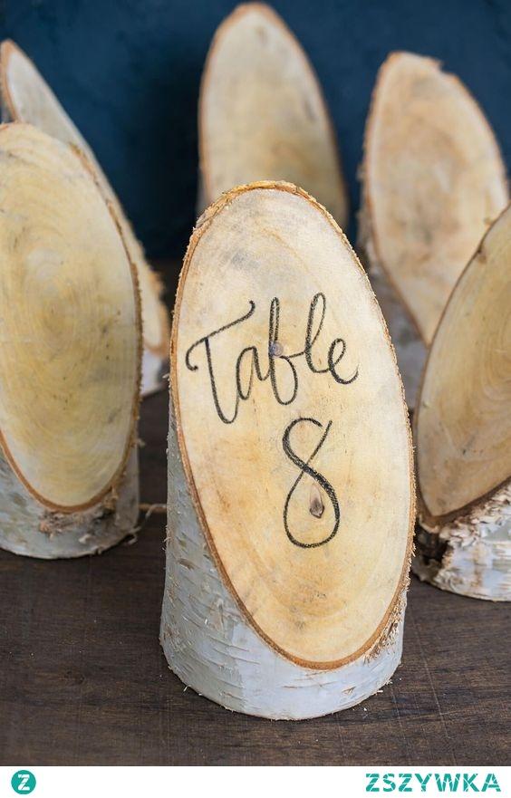Oryginalne numerki na stół <3
