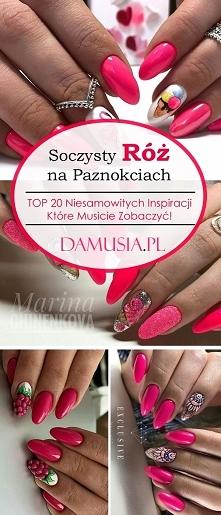 Soczysty Róż na Paznokciach...