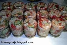Sałatka obiadowa do słoików cioci Moni