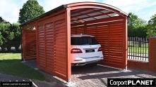 wiata garażowa wolnostojąca carport z drewna z poliwęglanu zabudowana żaluzja...