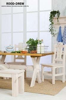 Stół drewniany woskowany, z...