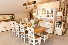 bielone meble  do  jadalni  kolekcja bianco
