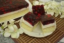 Ciasto z galaretką , jagoda...