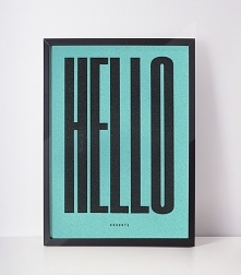 plakat | hello goodbye | a4