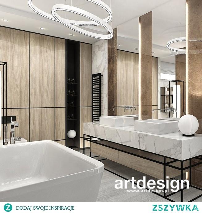 Nowoczesna łazienka w bieli, brązach i drewnie | PERFECT MATCH | Wnętrza domu