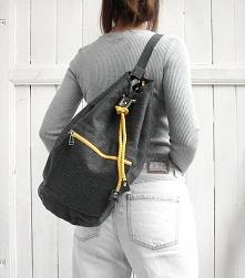 worek plecak - grey&yel...
