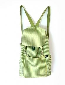 Plecak zielone paski