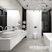 Nowoczesny projekt łazienki...