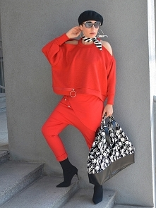 SWETER KRÓTKI RED by momo