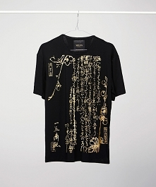 Gold Ukiyoe black t-shirt man