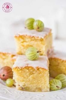 Waniliowe ciasto z agrestem - Najlepsze przepisy | Blog kulinarny - Wypieki B...