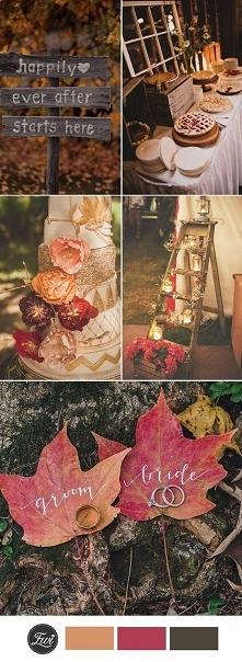 Inspiracje na jesienny ślub...