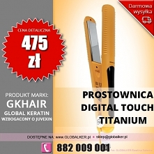 Global Keratin prostownica tytanowa GK Hair digital touch titanium flat iron ...
