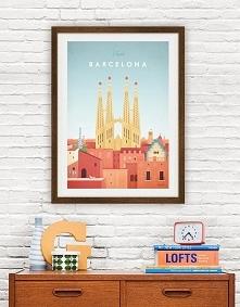 Barcelona - vintage plakat ...