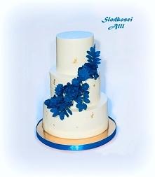 Tort ślubny obłożenie krem