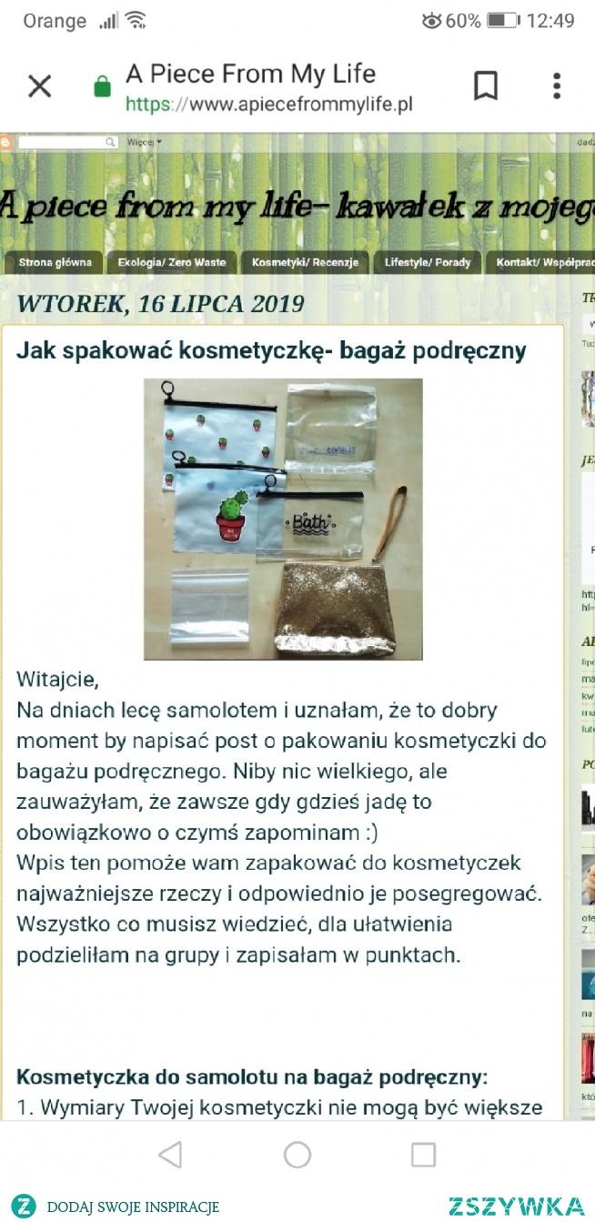Zapraszam na mojego bloga Jak spakować kosmetyczkę do bagażu podręcznego #kosmetyczka #bagaż #wakacje