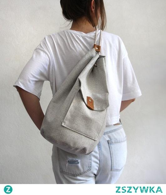 worek plecak - ecru&beige2 -