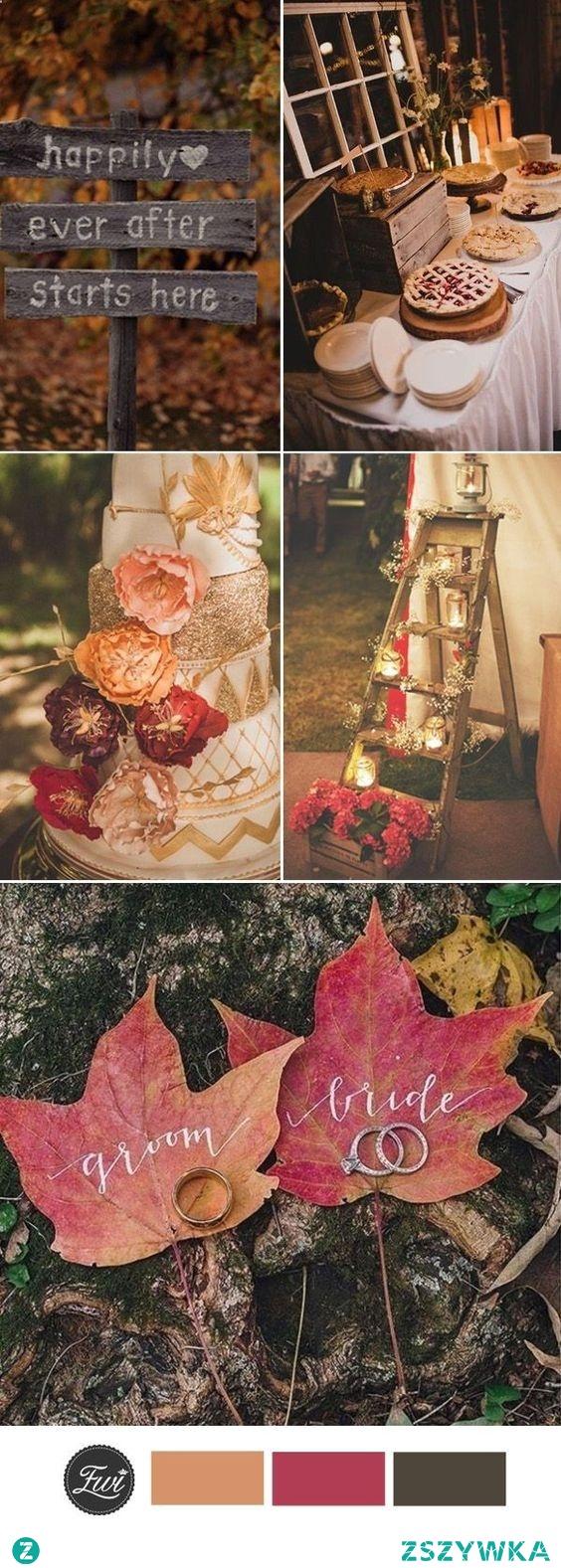 Inspiracje na jesienny ślub <3
