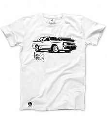Biały T-shirt Audi Sport Qu...