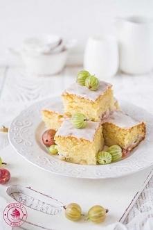 Ciasto waniliowe z agrestem