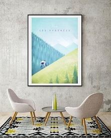 Pireneje - vintage plakat 5...