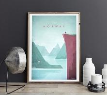 Norwegia - vintage plakat 5...