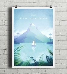 Nowa Zelandia - vintage plakat