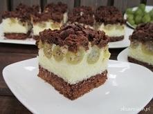 Ciasto kokosowo - agrestowe
