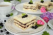 ciasto raffaello z czarną porzeczką bez pieczenia