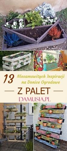 DIY Donice z Palet – TOP 13 Ciekawych Inspiracji na Donice do Twojego Ogrodu