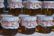 Podziękowania dla gości,upominki, słodki miodzik