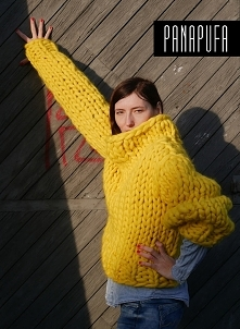 Pullover oversize 100% wełna