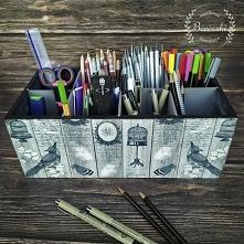 Przybornik na kredki, ołówki, flamastry :)  Zapraszamy na nasz profil na insta!  Bereszki(kropka)pl