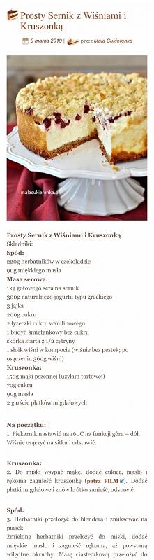 sernik z wiśniami
