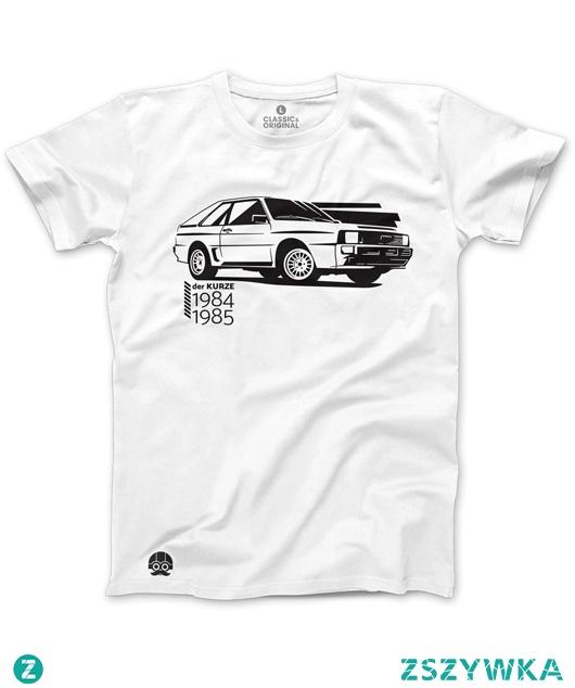 Biały T-shirt Audi Sport Quattro