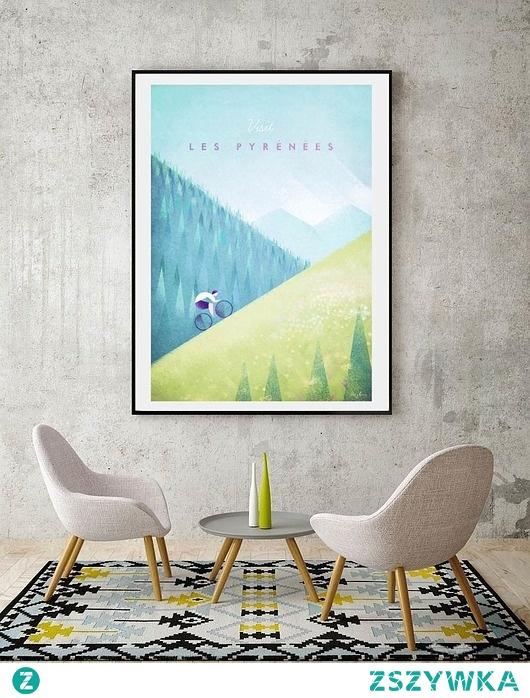 Pireneje - vintage plakat 50x70 cm
