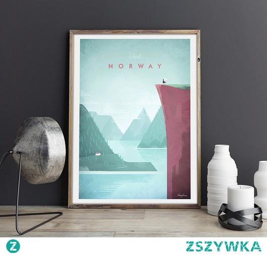 Norwegia - vintage plakat 50x70 cm