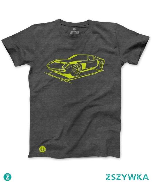 Szary T-shirt Lamborghini MIURA
