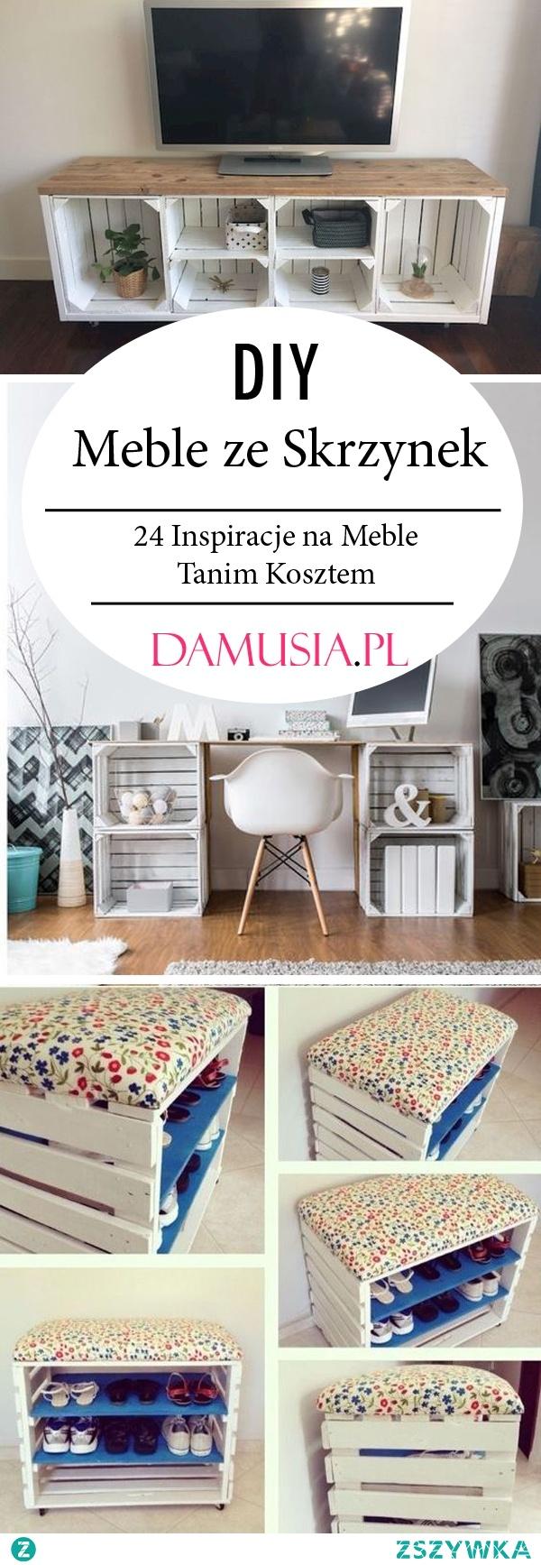 Meble ze Skrzynek – TOP 24 Inspiracje na Ręcznie Robione Meble ze Skrzynek Po Jabłkach