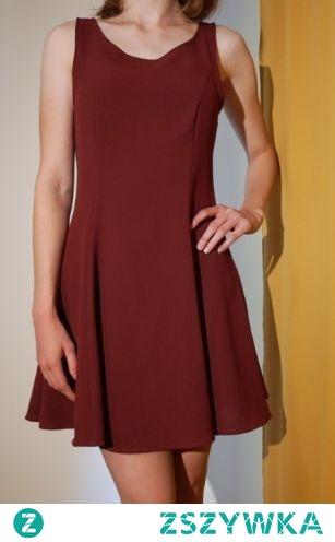 HM Bordowa sukienka na spredaż kliknij w zdjęcie