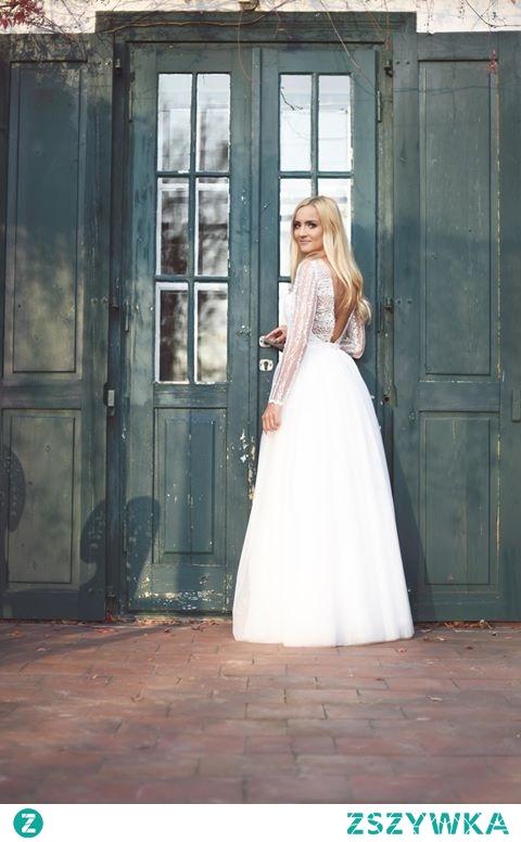 Piękna suknia ślubna od Baronetki