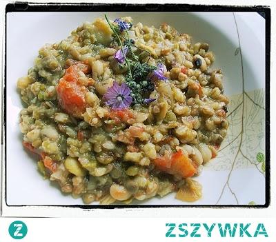Kasza z nasionami strączkowymi (danie z Lukki) - Farro-Bean Soup From Lucca Recipe - Zuppa alla Lucchese