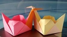 Słodkie papierowe łabędzie