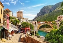 Budowla. Most w Mostarze. P...