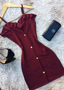 Bordowa sukienka <3