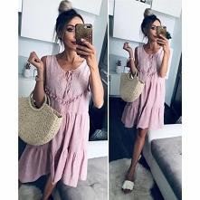 Urocza różowa sukienka ;)