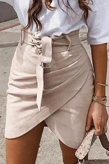 Piękna beżowa spódnica <3