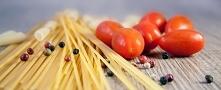 Spaghetti z tofu i szpinaku...