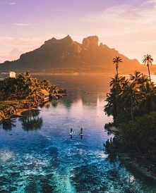 Zachód słońca na Bora Bora