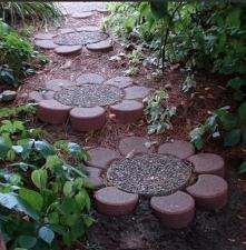 Kostka, ścieżka, ogród, garden